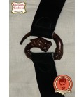 Leather belt with dragon clasp