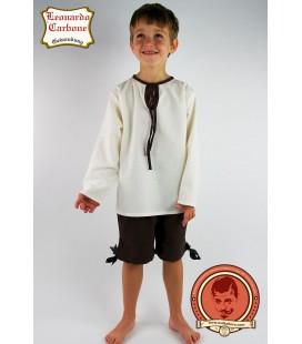 Camisa medieval de niño Dicgeor