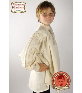 Camisa de algodón medieval para niños Thasceol