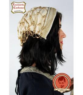 Velveteen bonnet beige