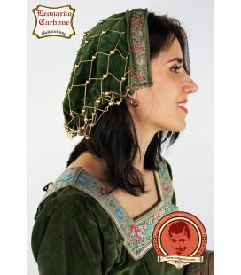 Velveteen bonnet green