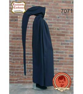 Capa de algodón con capucha larga