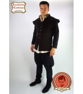 Velveteen jacket with removable sleeves