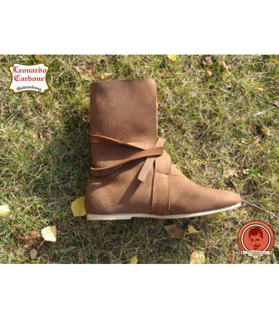 Vikings boots with leather sole