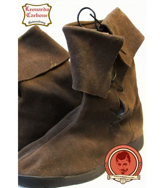 Classic medieval leather boots