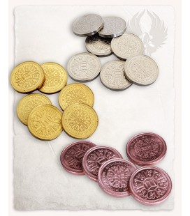 Monedas para LARP, Varios metales