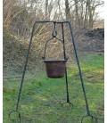 Trípode de cocina de acero 93 cm Eothred