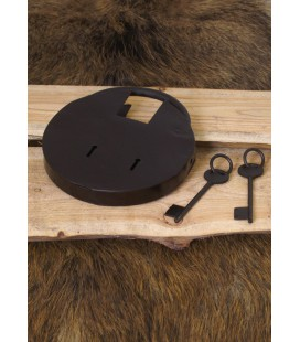 Goliath Round Dungeon Padlock with two keys