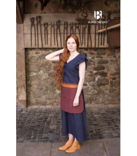 Vestido medieval Agga - Azul