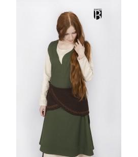 Cinturón cruzado de lana Ketra Marrón