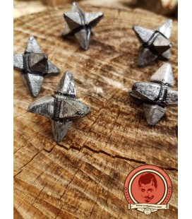5 caltrops with fabric bag