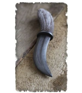 Curved boot knife