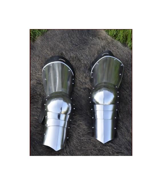 Protección para las piernas siglo 15, 1.6mm acero