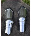 Protección para las piernas siglo XV, 1,2 mm acero