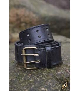 Cinturón Aguja Doble en Negro