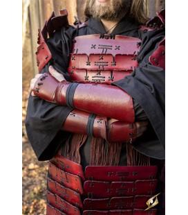 Brazaletes de Samurai Rojo (Pareja)