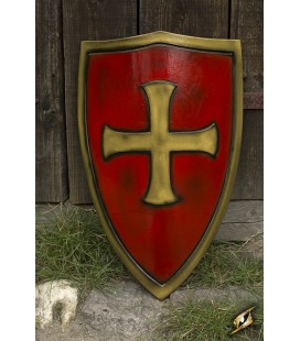 Escudo Templario Rojo y Dorado