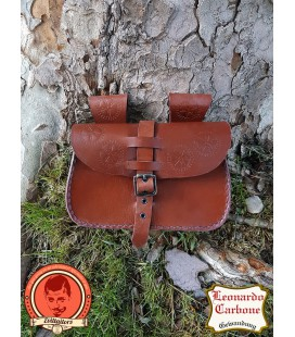 Jan Bolsa de cuero de cinto marrón