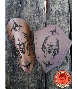 Baphomet brazales de cuero - Marrón