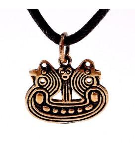 Amuleto Vikingo Bornholm-Ship Pequeño