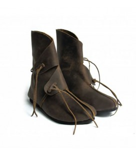 Raurikars botas vikingas de cuero - Marrón