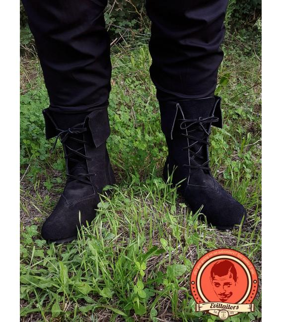 Botas de Caña vuelta Aurin - Negro