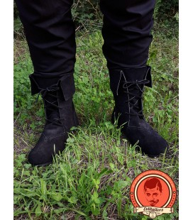Aurin Leather boots - Black