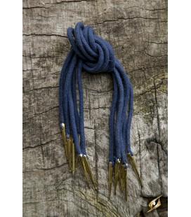 Tie Strings w. Points - Dark Blue