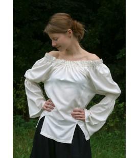 Blusa larga medieval, marrón