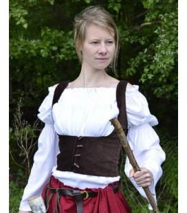 Theressa Chaleco medieval, burdeos