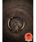 Fíbula medieval clásica espiral - Dorada