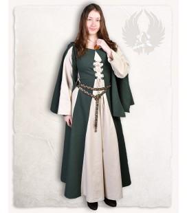 Vestido Jasione verde/crema
