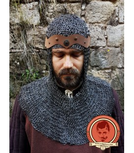 Leondegrance riveted chainmail coif