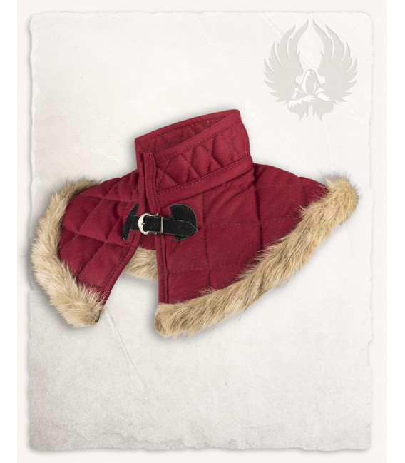 Gorjal Acolchado Nimue forrado de lana Burdeos