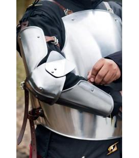 Protección Brazo de Soldado en acero pulido