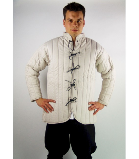 Gambeson with leather strings