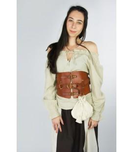 Blusa de algodón medieval Leonor