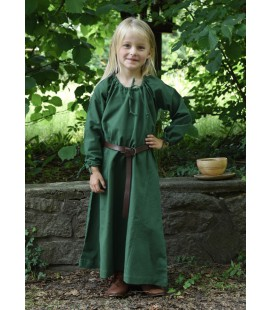 Vestido Medieval Ana para niños - Verde