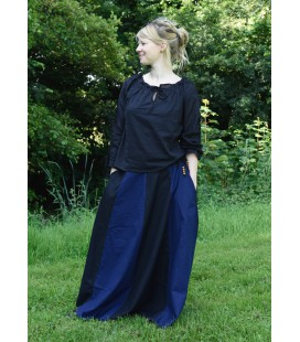Daisy Ladies Skirt - Black/Blue
