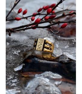 "Medieval Finger Ring ""PAX"""