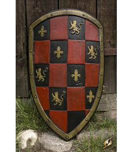 Escudo Ajedrezado Rojo