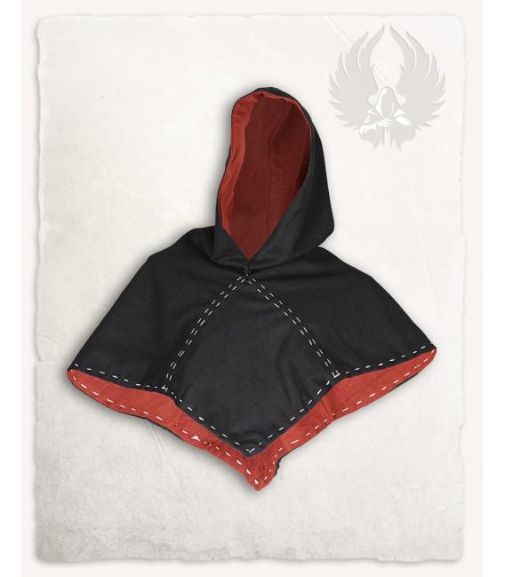 Halaif Capucha de Lana - Negro/Rojo