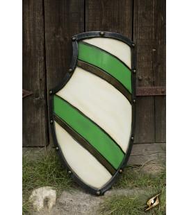 Escudo de Caballero Blanco/Verde