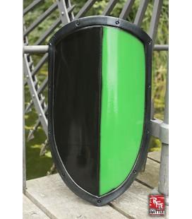 Escudo de Vértice en Negro y Verde