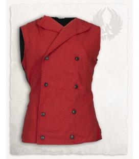 Chaleco Hamish de algodón - Rojo