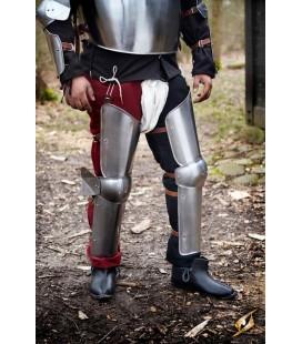 Protección para piernas de soldado - Acero Pulido