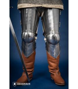 Perneras de metal 3/4 Siglo XV - Acero Pulido