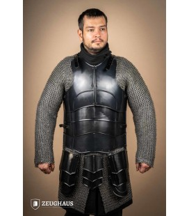 """Cuirass with back """"Champion"""" with short tassets, blackened"""
