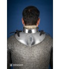 Gorjal con protección para cuello - Acero Pulido