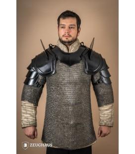 "Pauldrons ""Warrior"" with Blade Breakers, blackened"